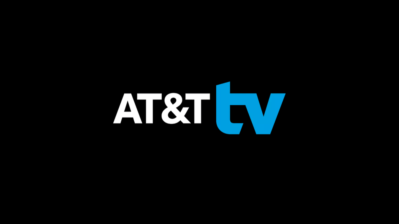 AT&T TV logo on black background