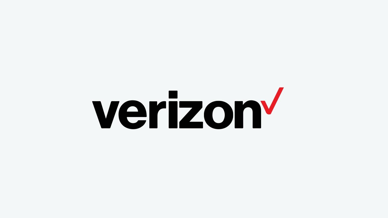 Verizon logo on gray background