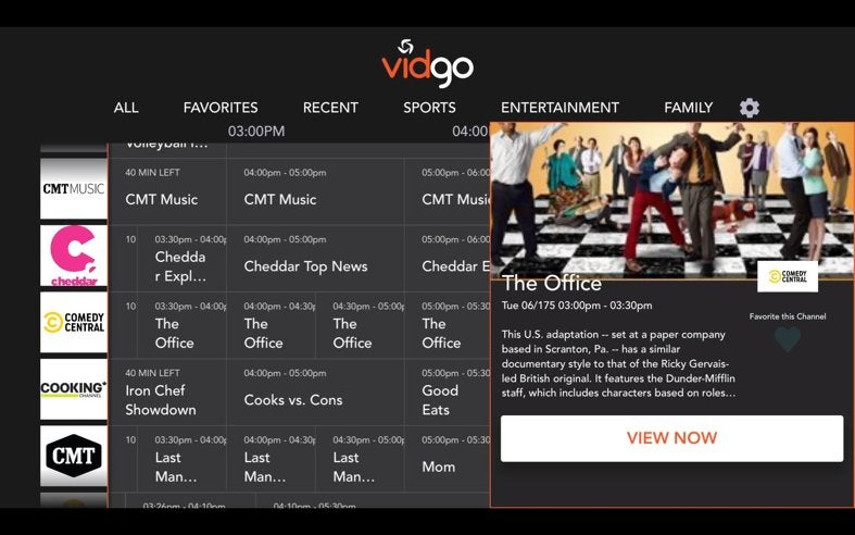 tv streaming review 1 vidgo - Vidgo Review - 91% Discount!