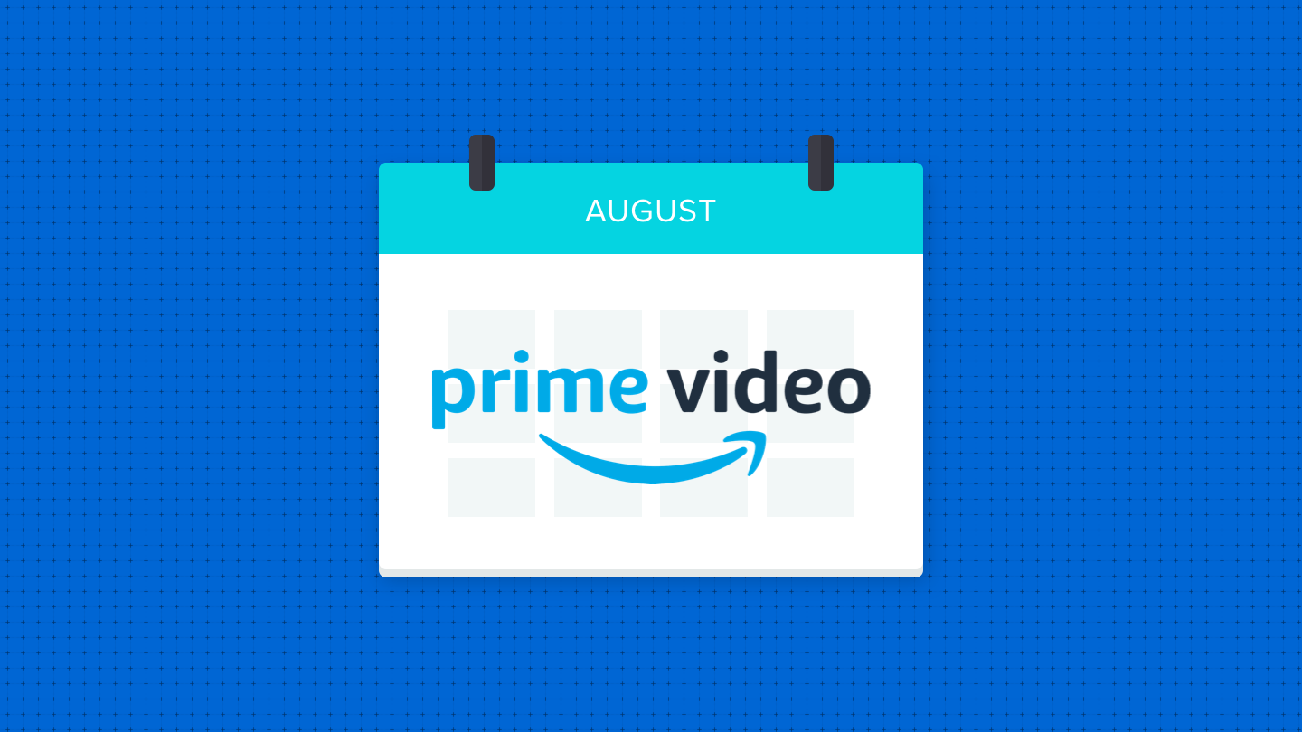 Illustration of a calendar saying August on Prime Video