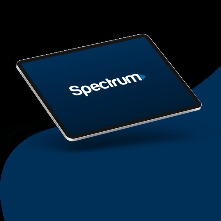 Spectrum logo displayed on a tablet