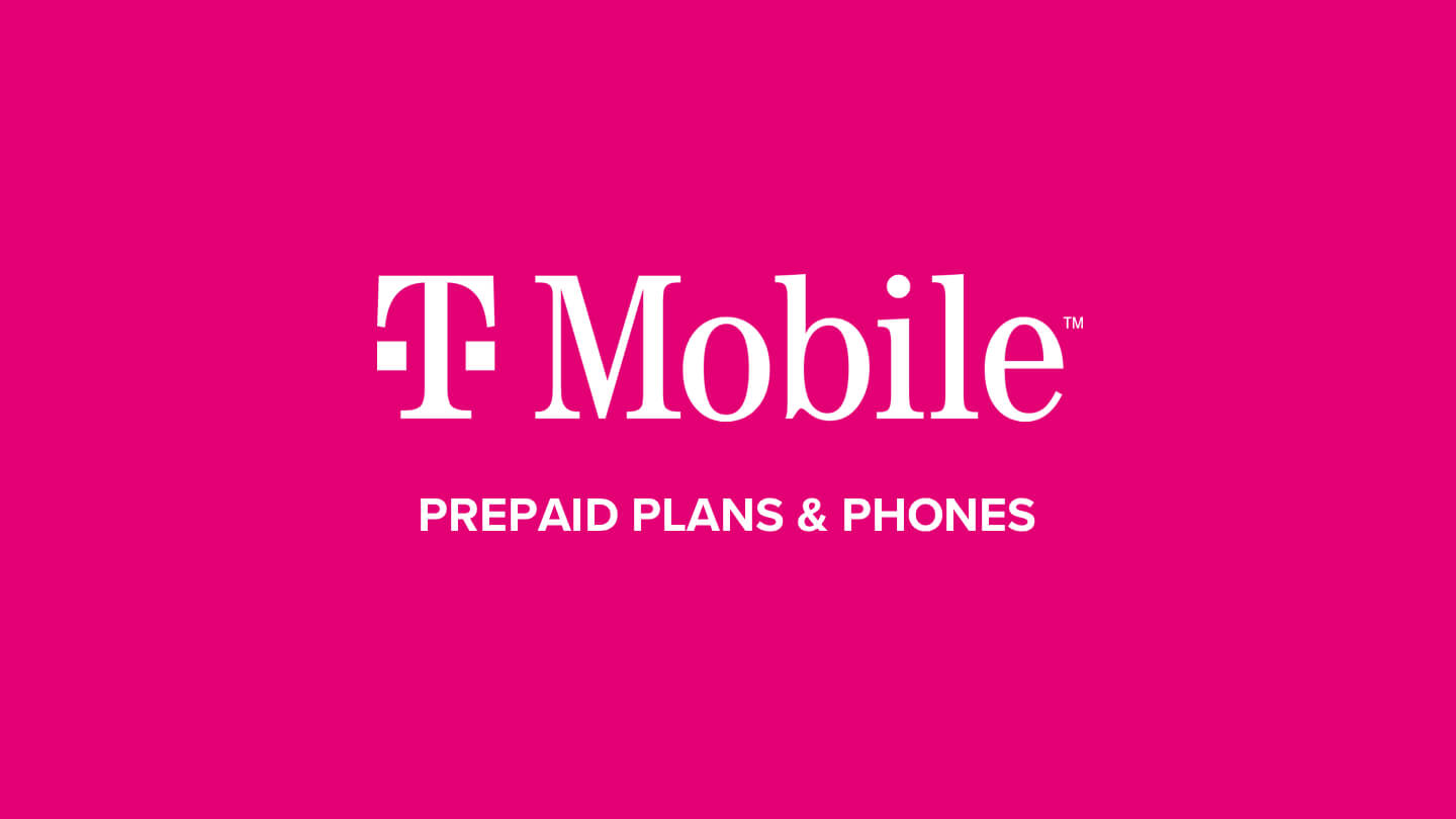 T-Mobile logo, along with advertising for prepaid plans and phones