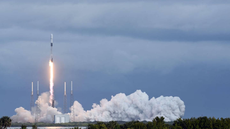 Falcon 9 rocket launching