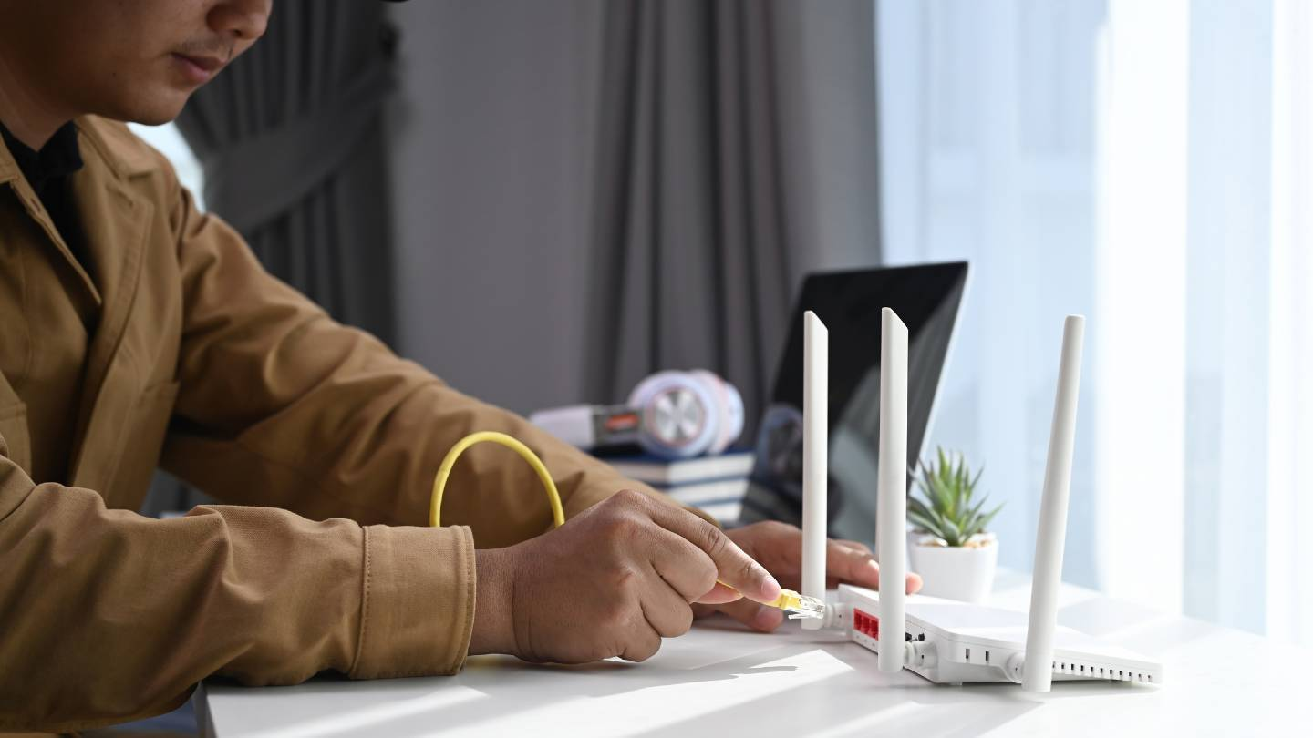 Man with router
