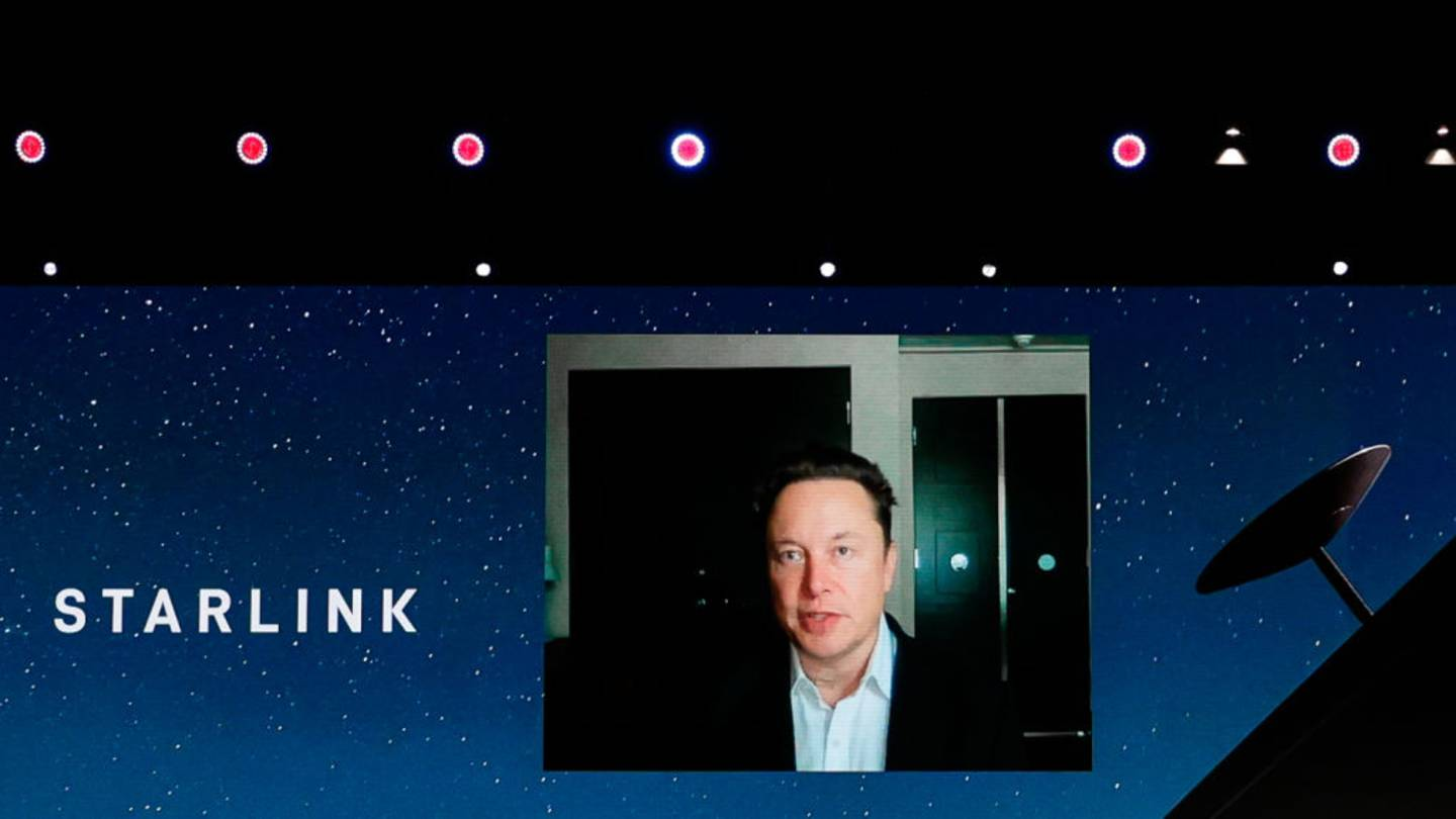 Elon Musk, the Chief Engineer of SpaceX, speaking about the Starlink project at MWC hybrid Keynote.