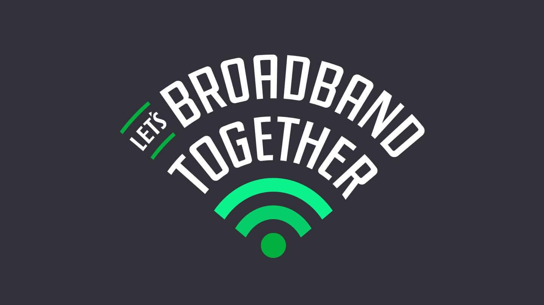 Let's Broadband Together logo