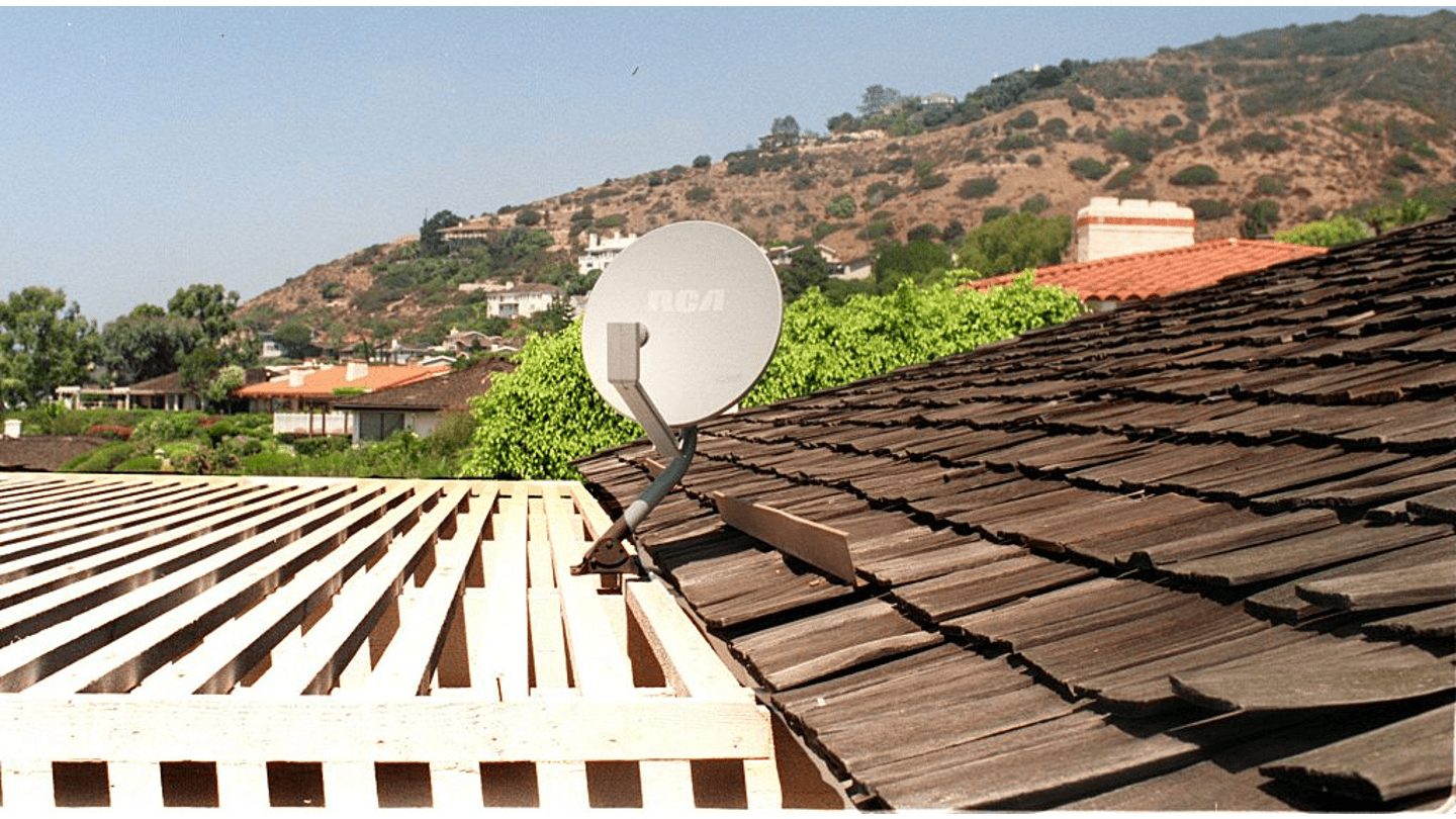 Satellite on top of home