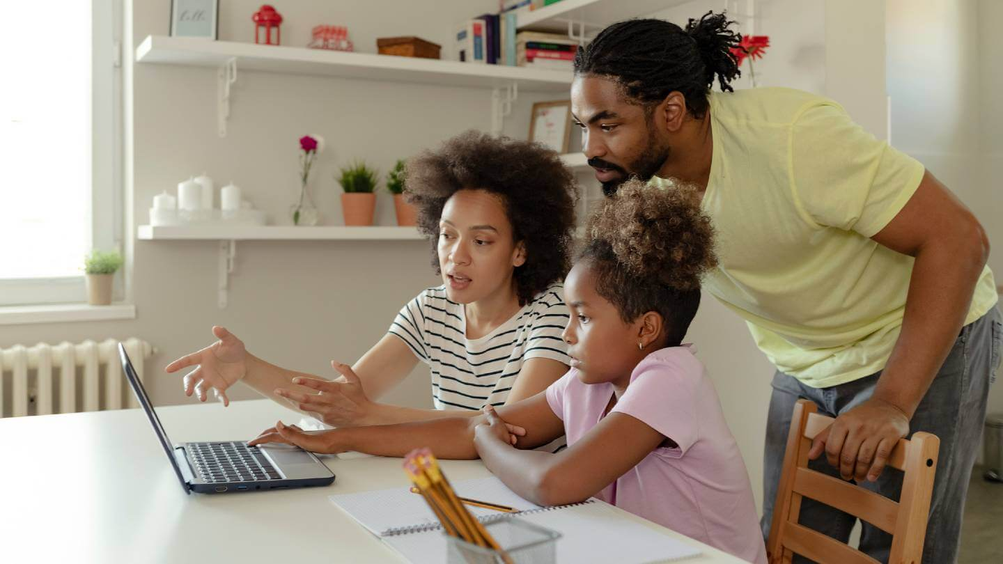 Family on the internet together