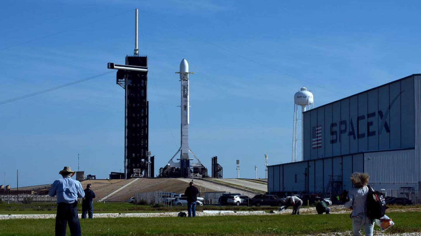 SpaceX satellite being launched